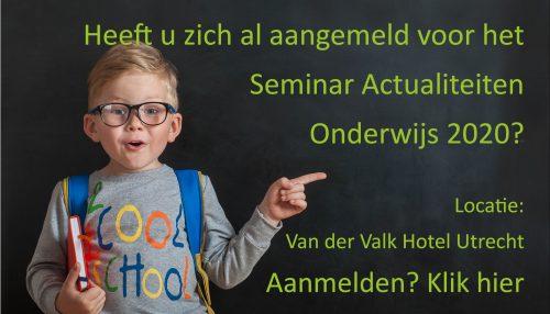 Actualiteiten seminar onderwijs